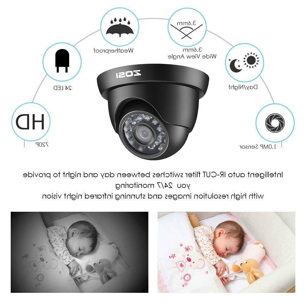 ZOSI 8CH 1080P HDMI 1500TVL IR Outdoor Home Camera