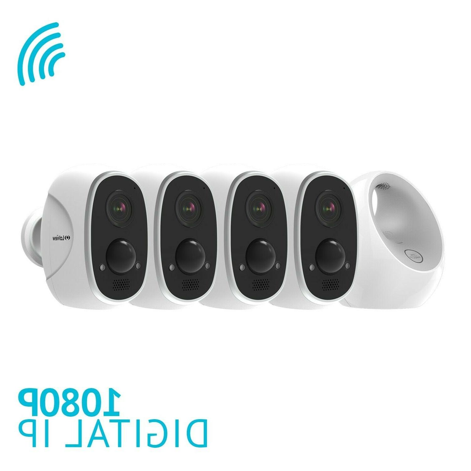 4 Security Outdoor HD 1080P Alexa