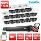 ANNKE HD 6MP 16CH NVR POE 1080P Dome Outdoor IR Security Cam