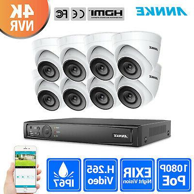 ANNKE HD 6MP 8CH PoE NVR 1080P IP Network IR Outdoor WDR Sec