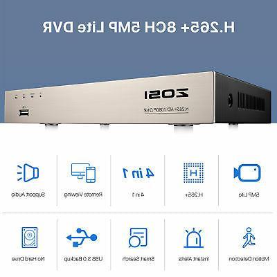 ZOSI HD H.265 5MP DVR IR CCTV Security System