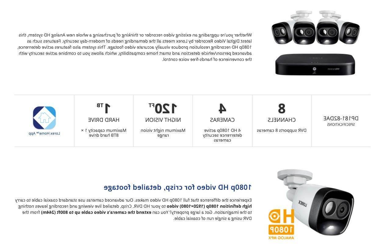 Lorex HD Security System 120ft HDD