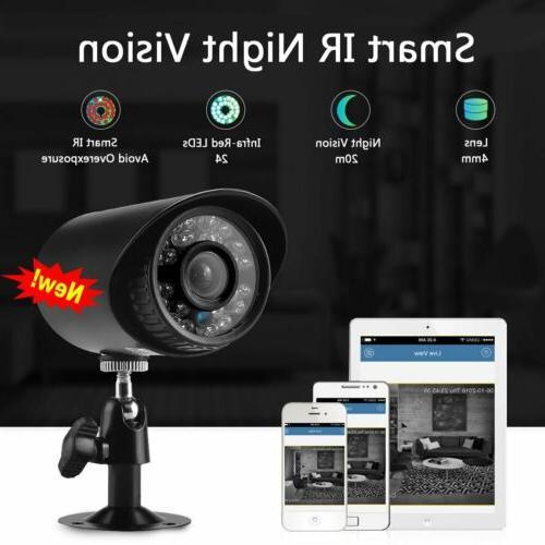 HMEX Camera System 1080N HDMI 4*720P Video DVR