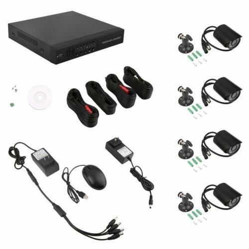 HMEX Home Security Camera System 4*720P Outdoor Video DVR