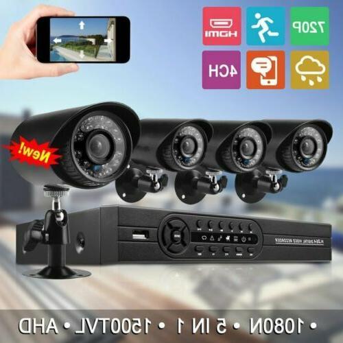 hmex 4ch home security camera system 1080n