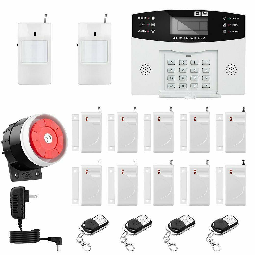 Home Alarm System Wirelss GSM Security Remote Control Intell