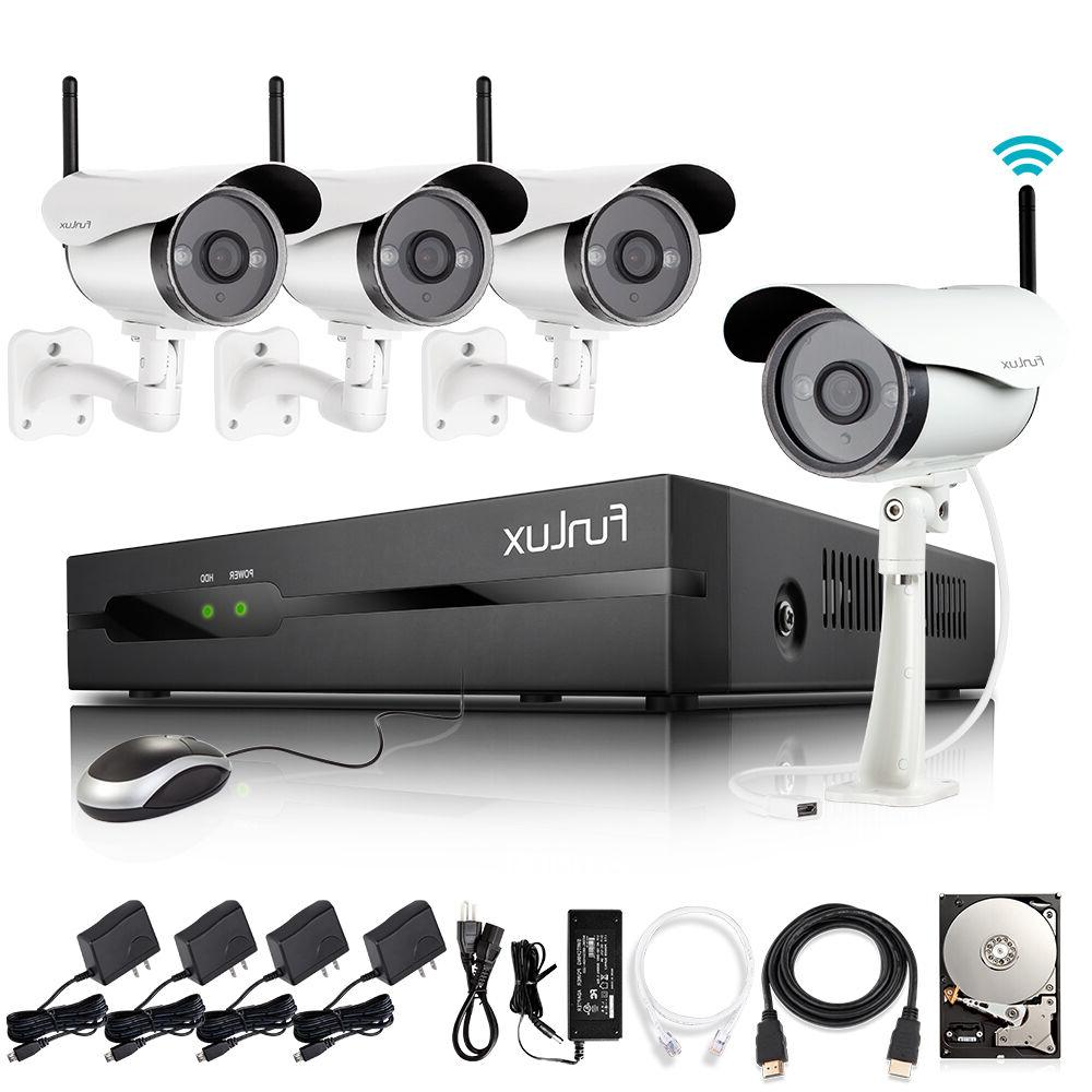 Funlux® 720P IP Outdoor Camera Home Security System 4CH 1T