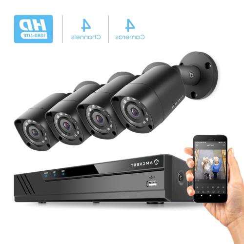 Amcrest HD Video Security Camera System w/ Outdoor Cameras, Vision, Not Included, Supports AHD, CVI, 960H IP