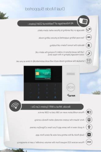 K65 APP WiFi GSM Alarm System+IP Camera+RFID Access