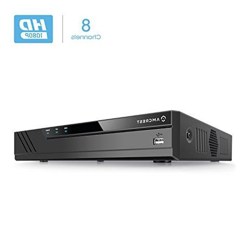 Amcrest Full-HD Video System 2MP Cameras, 66ft Vision, Hard Drive