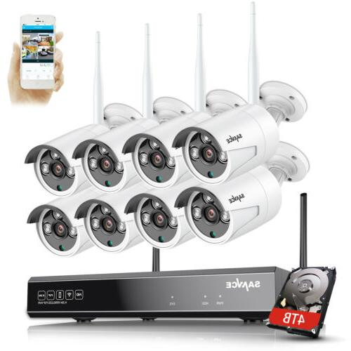 SANNCE 1080P Wireless 2MP Security IP System Night