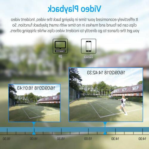 Zoohi Home 1080P CCTV Security Camera Outdoor 4/8CH 1/2TB HDMI