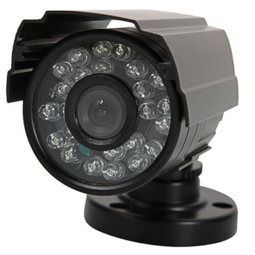 Security Camera System 1080P Indoor Housing Video Equipment w/ 24 LEDs