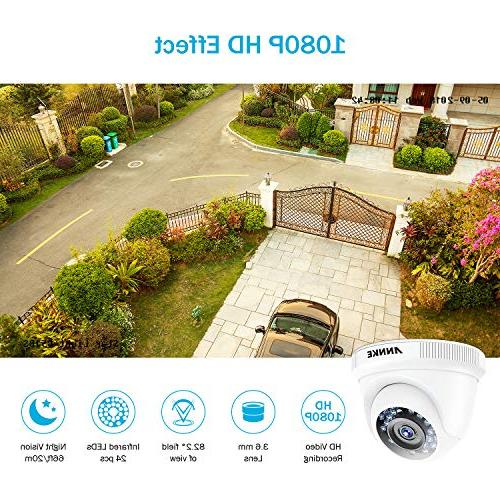 ANNKE 8-Channel DVR HDD 1080P CCTV Remote Access and Detection