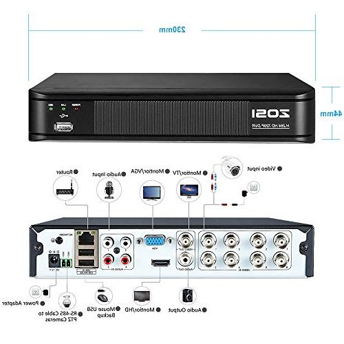 ZOSI 720P Video Security DVR 720P with LEDs