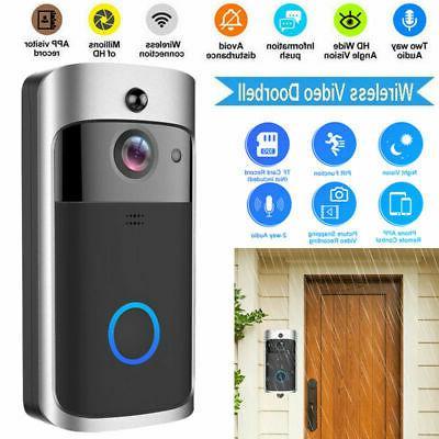 Smart Wireless WiFi Door Bell IR Camera Record Security Kit