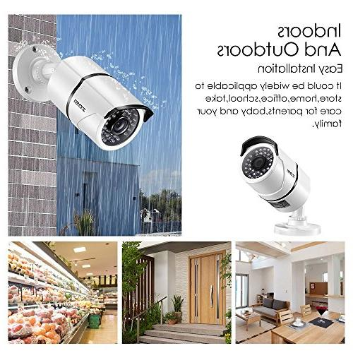 Camera System,4-in-1 DVR and Outdoor Cameras IR Night
