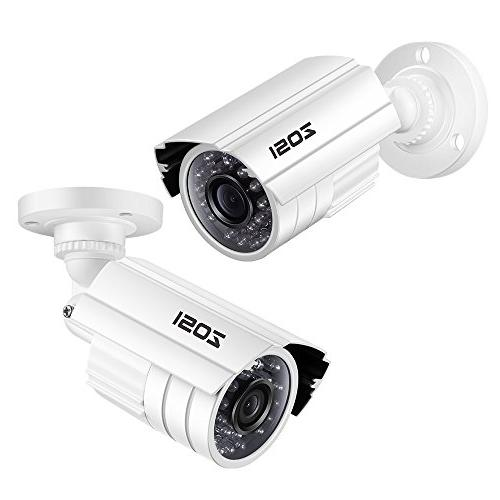 ZOSI 720P HD-TVI Surveillance System,4PCS Indoor/Outdoor Weatherproof Security with Infrared Vision