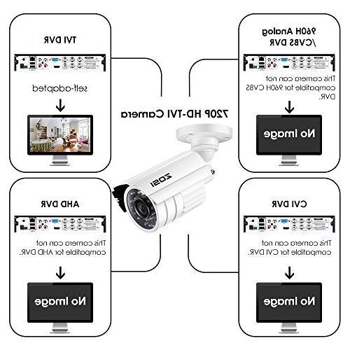 ZOSI HD-TVI Surveillance Camera System,4PCS Weatherproof Camera with Infrared Vision