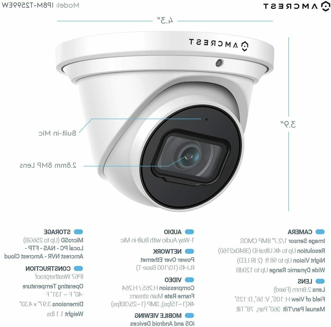 Amcrest Outdoor Security IP 8MP Turret