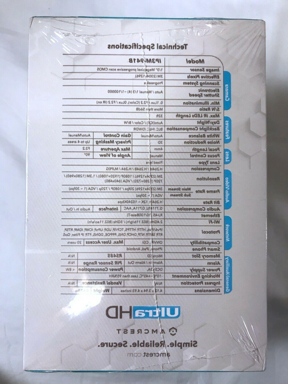 Amcrest UltraHD IP3M-941B, NEW in unopened