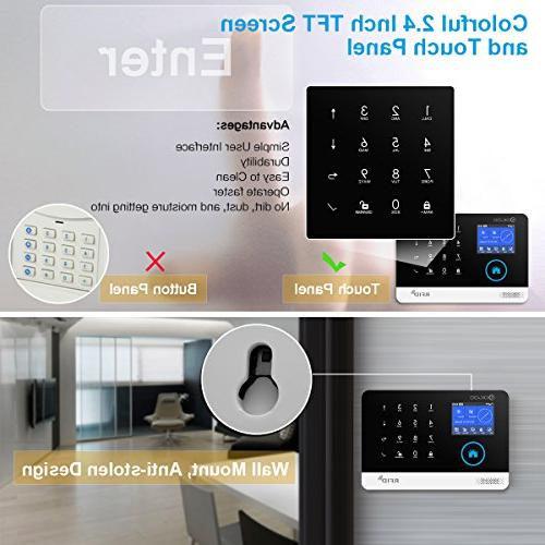 DIGOO Home and Business Alarm GSM&WIFI Smart System Kits, Burglar Alarm With Full Touch Screen,Auto and APP