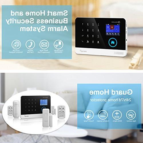 Home Alarm System, 433MHz GSM&WIFI Smart Kits, Burglar With Full and Remote Control