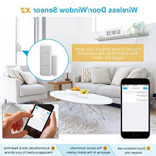 DIGOO HOSA 2G Wireless Home Business Alarm System, Smart Security System Kits, Burglar Alarm With Full and APP