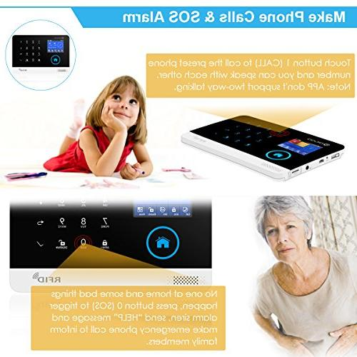 DIGOO 2G Home Business Alarm System, 433MHz GSM&WIFI Smart Security Kits, Full and APP