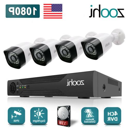 Zoohi CCTV Security System 4/8CH HDMI