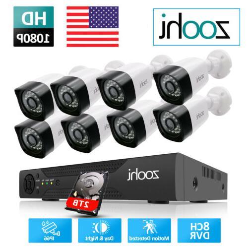 wifi 1080p cctv security camera system outdoor