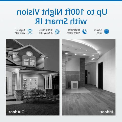 SANNCE 1080P NVR Wireless IP Camera System Night Vision