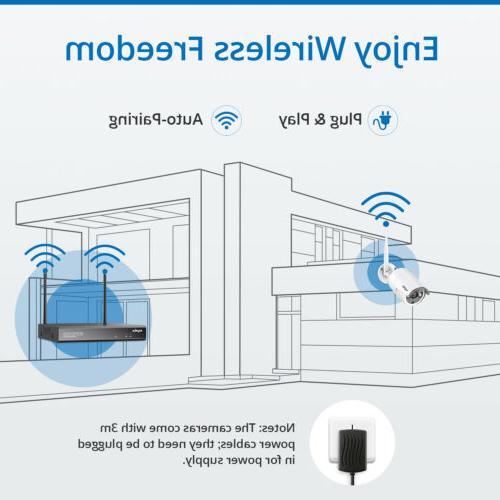 SANNCE Wireless IP Camera System IR Night Vision