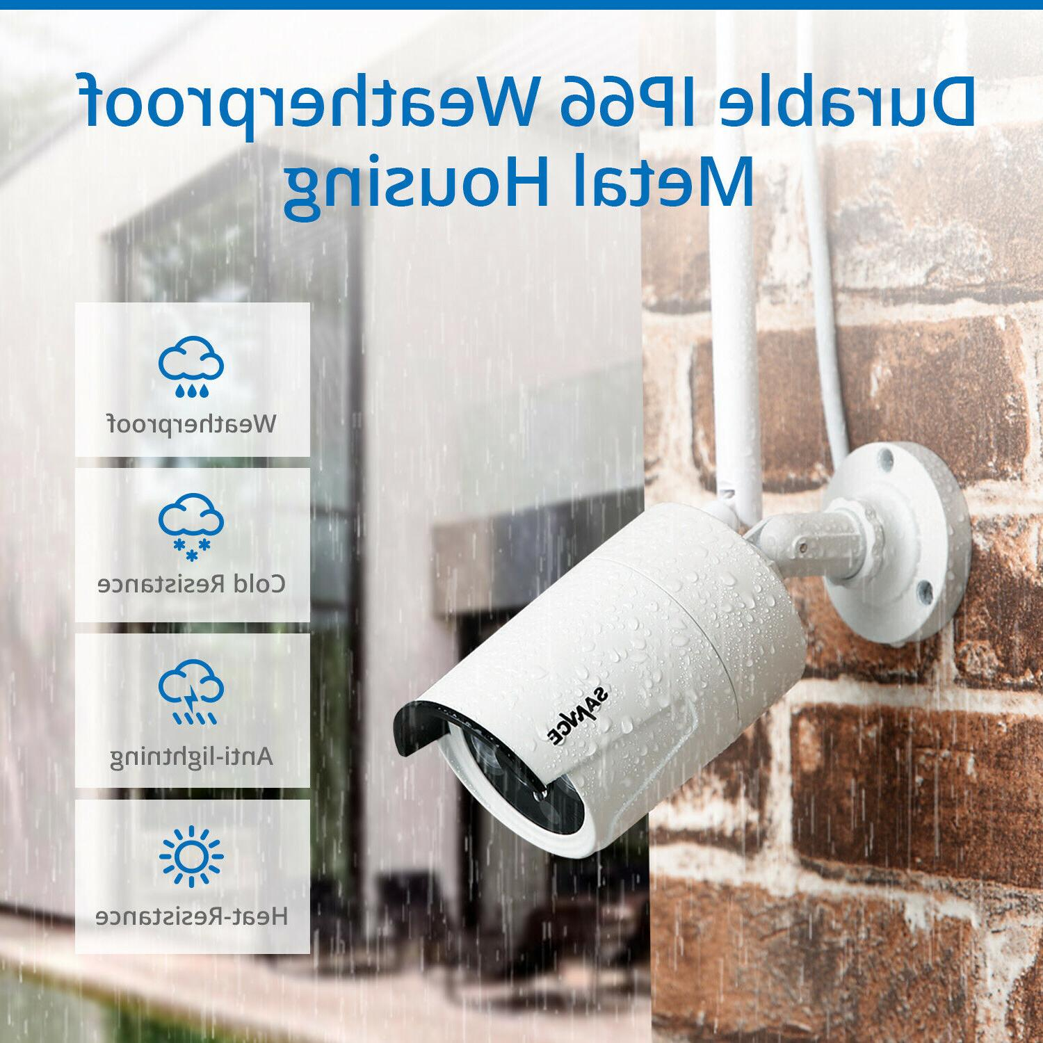 SANNCE NVR Outdoor IP Camera System Vision