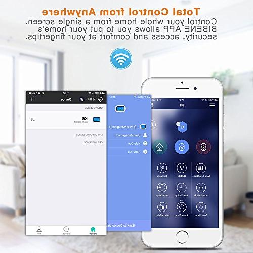 BIBENE 3G WIFI Home Security Alarm 4.3'' Touch APP Control Sensor No Monthly Alexa Expandable 792 Office