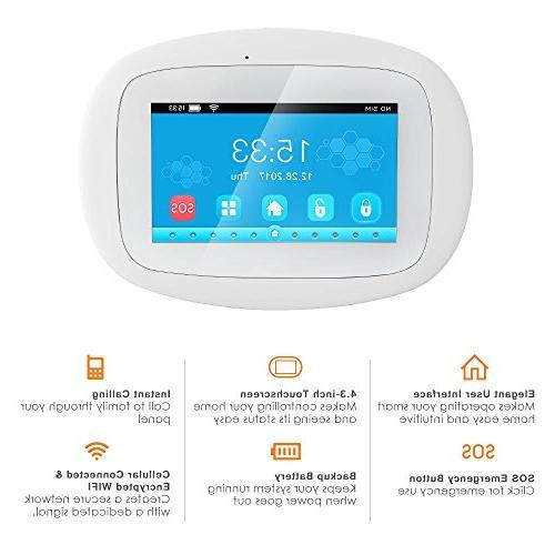 BIBENE Security with 4.3'' APP PIR Sensor Alzheimer No Fee Alexa System 792 Sensors for Home Office