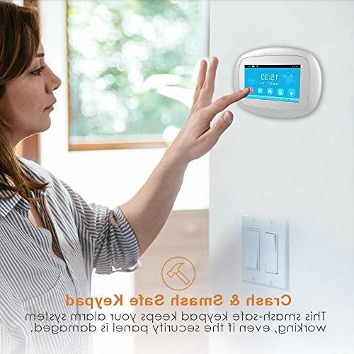 BIBENE Security Alarm with 4.3'' Keypad APP Control Sensor Alzheimer Alarm No Alexa 792 Sensors for Office