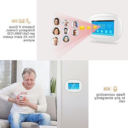 BIBENE Home Security 4.3'' Touch Screen APP Control Motion Sensor No Monthly Alexa Alarm 792 for Office