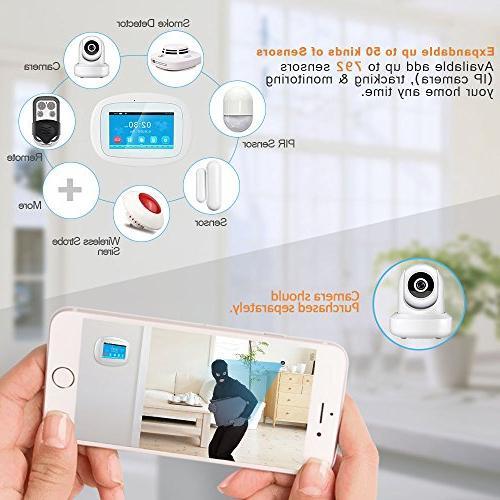 BIBENE WIFI Home Security Alarm 4.3'' Screen APP PIR Sensor Alzheimer Door No DIY Alexa 792 Office