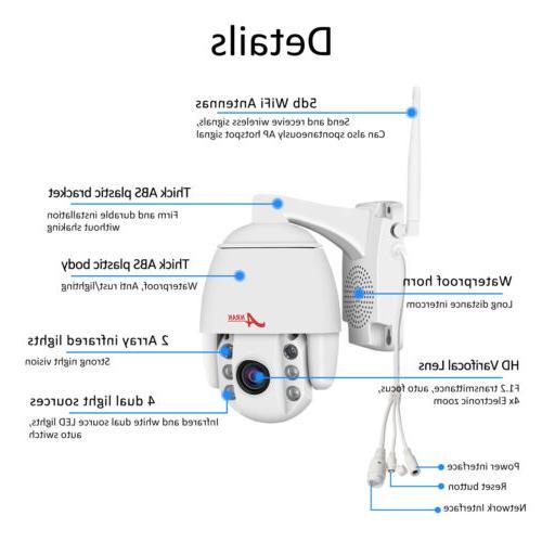 ANRAN WIFI Security Camera Outdoor 2Way APP