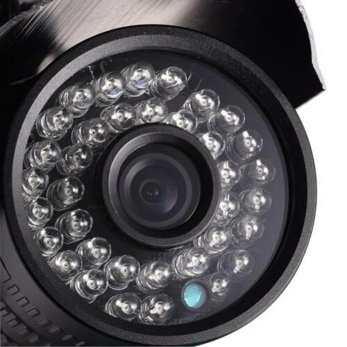 Wired 1200TVL Angle CCTV Camera System Outdoor Waterproof