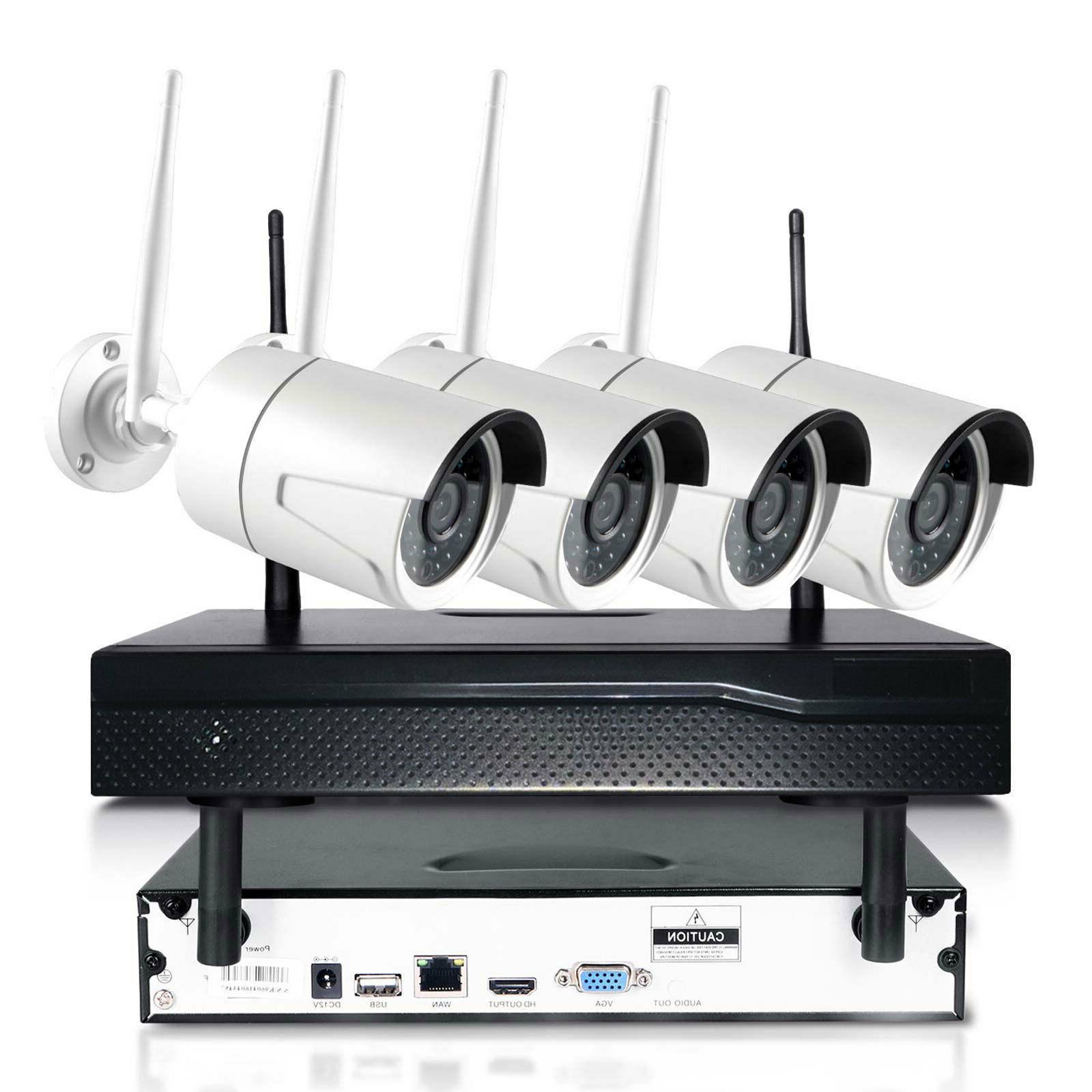 Xtech 4CH NVR Outdoor Camera CCTV Security Kit