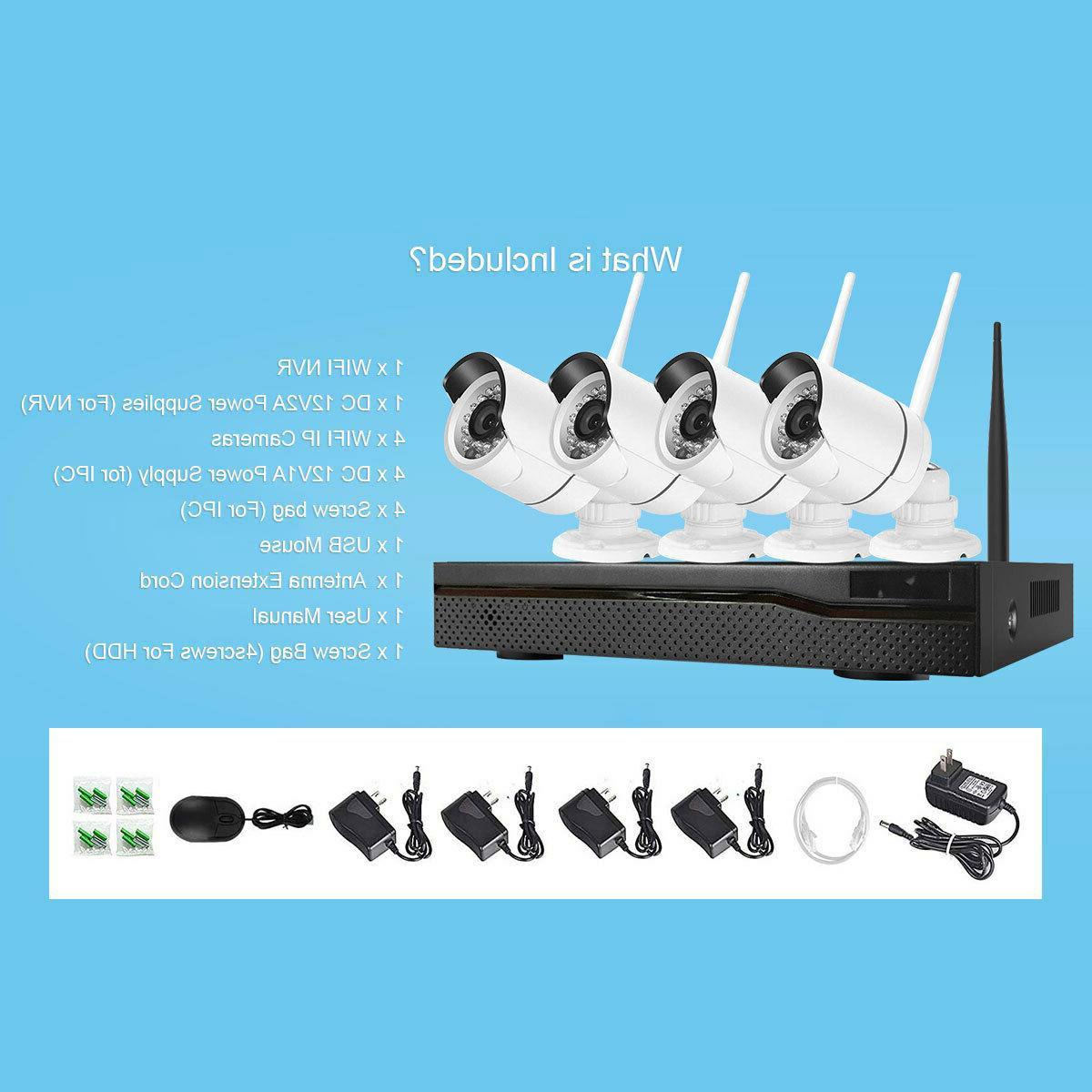 Xtech Wireless NVR Outdoor indoor WIFI Camera CCTV Kit