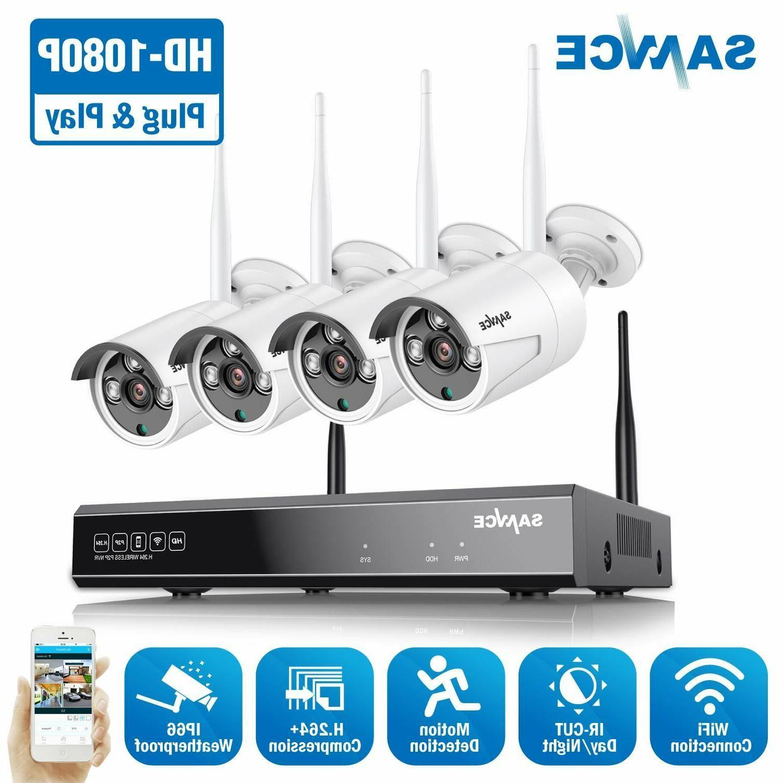 wireless 8ch nvr 1080p video outdoor wifi