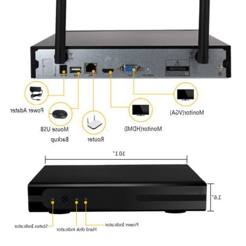 Wireless 8CH WIFI IR-CUT Camera Detection Security