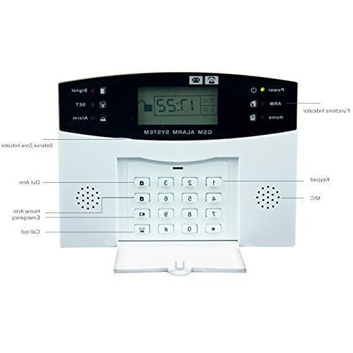 LCD SMS Autodial Burglar Security System DIY Door Window Sensor Siren