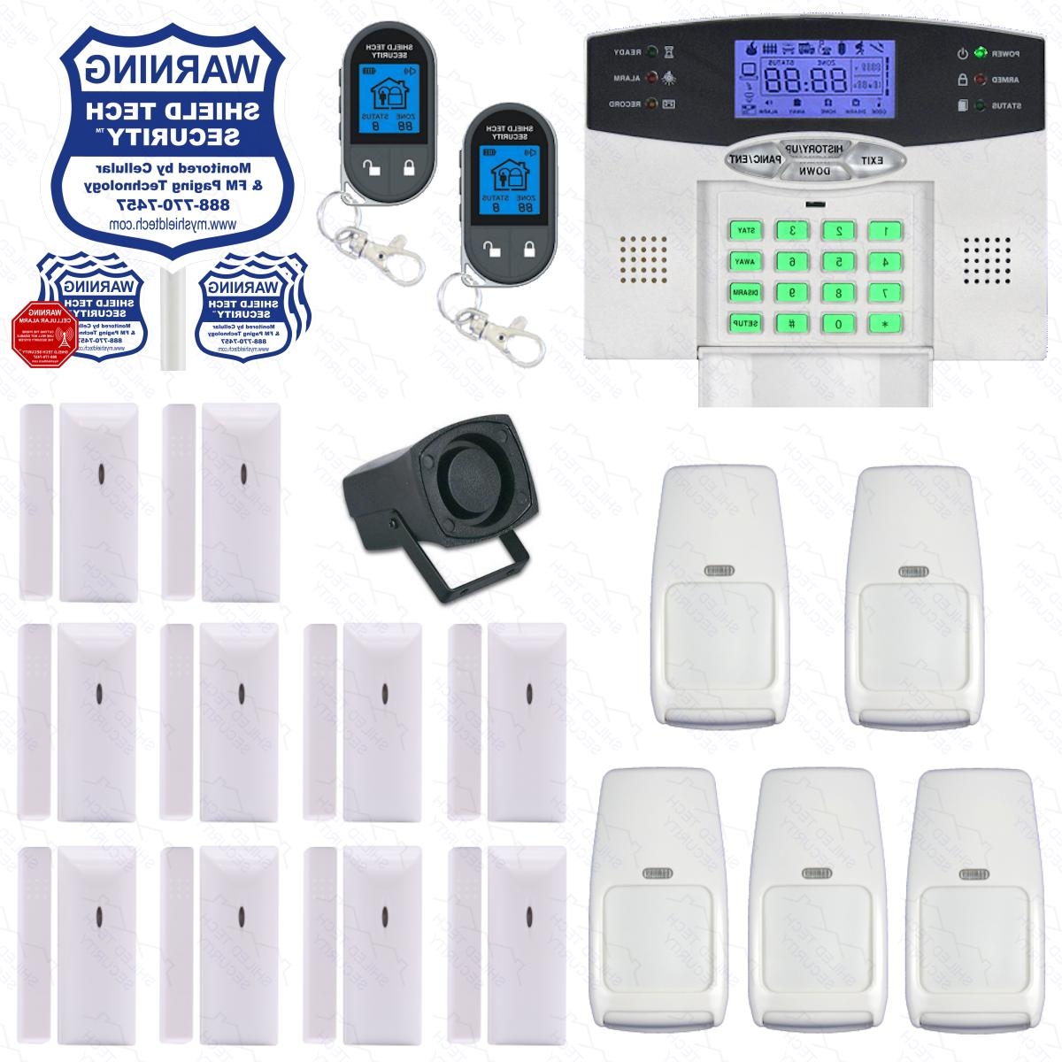 wireless home security system 2 way lcd