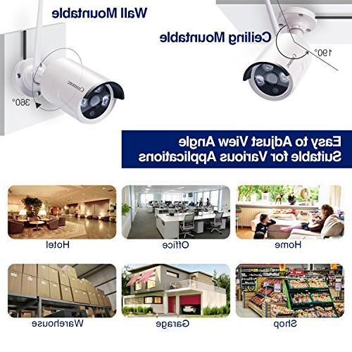 All Monitor Security System 4CH 1080P 4pcs 960P Bullet Camera IR Night Vision Plug 1TB