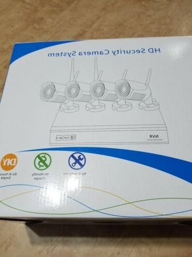 Incosky Wireless Security 4-720P Wifi Mini Cameras-4CH 1080P NVR