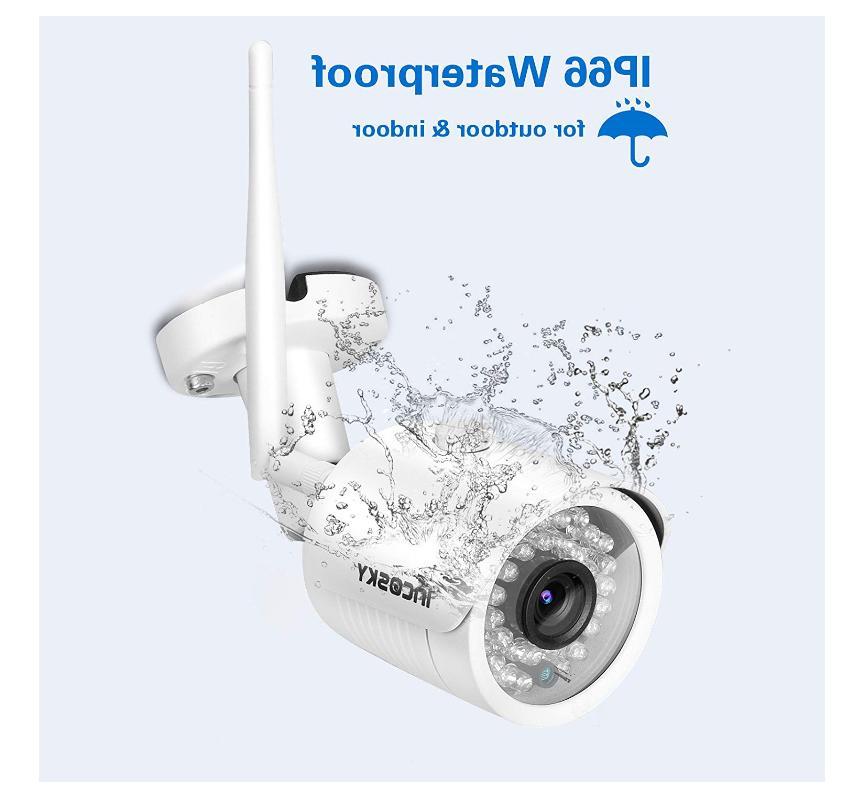 Incosky Wireless System, 4-720P Cameras-4CH